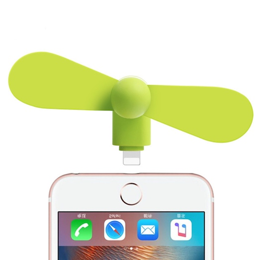 Mini-fan-håndvifte for iPhone och Android