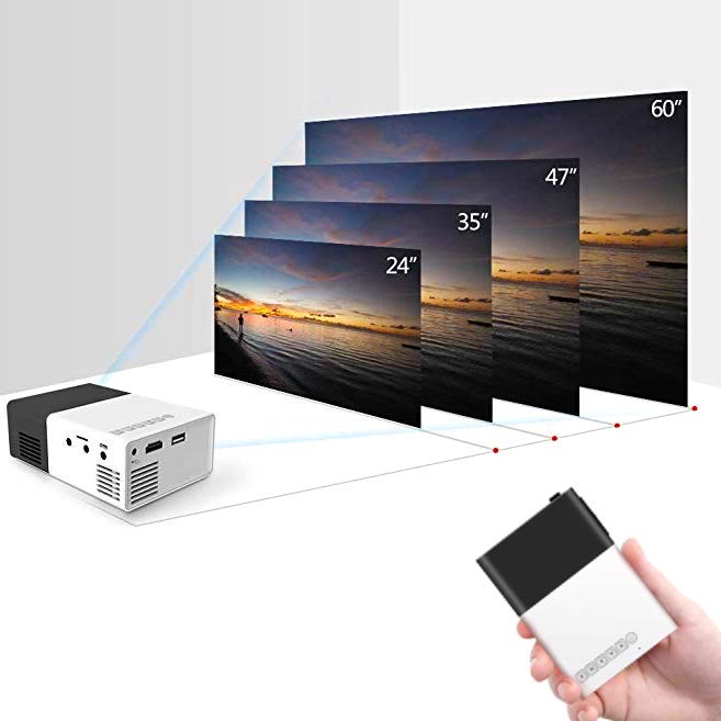 Portable LED projector - For datamaskin, mobil, Chromecast